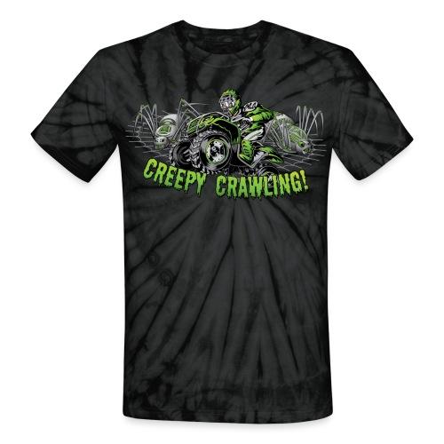 Creepy Crawling ATV - Unisex Tie Dye T-Shirt