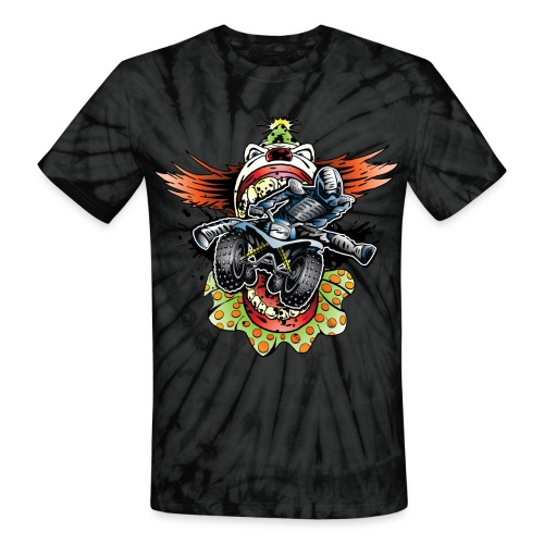Clownin' Quad Rider - Unisex Tie Dye T-Shirt