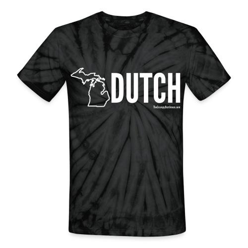 Michigan Dutch (white) - Unisex Tie Dye T-Shirt