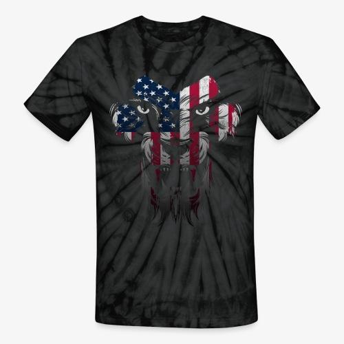 American Flag Lion Shirt - Unisex Tie Dye T-Shirt