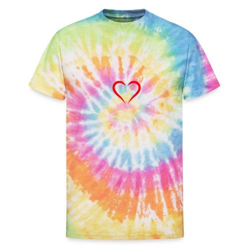 open heart - Unisex Tie Dye T-Shirt