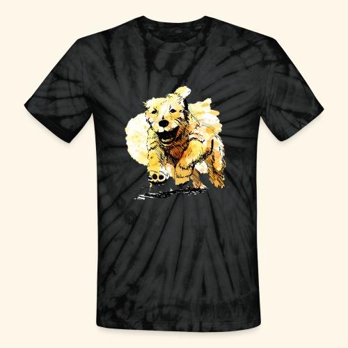 oil dog - Unisex Tie Dye T-Shirt