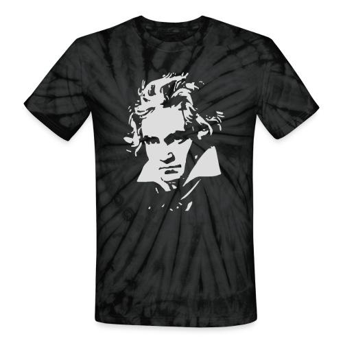 Ludvig Van Beethoven negative for dark shirts - Unisex Tie Dye T-Shirt
