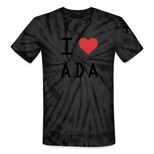 I HEART ADA (Cardano) - Unisex Tie Dye T-Shirt