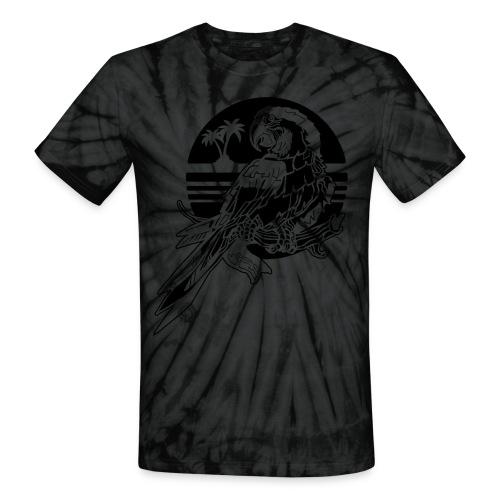 Tropical Parrot - Unisex Tie Dye T-Shirt