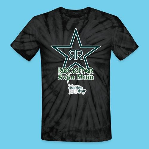 Rockstar Swim Mom - Unisex Tie Dye T-Shirt