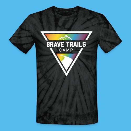 Brave Trails Triangle Logo - Unisex Tie Dye T-Shirt