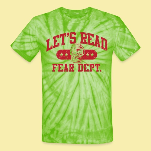 Fear Dept - Athletic Red - Inverted - Unisex Tie Dye T-Shirt