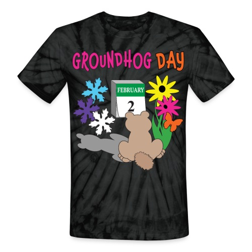 Groundhog Day Dilemma - Unisex Tie Dye T-Shirt