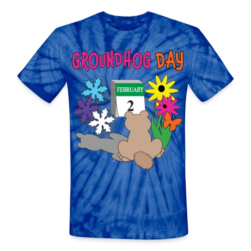 Groundhog Day Dilemma - Unisex Tie Dye T-Shirt