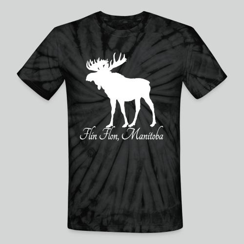 Moose White png - Unisex Tie Dye T-Shirt