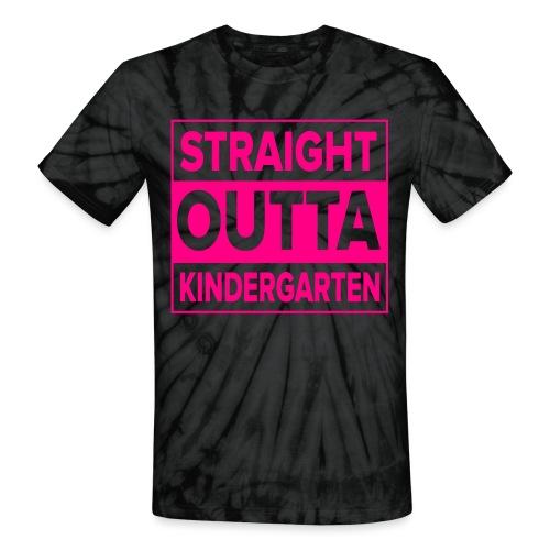 Straight Outta Kindergarten - Unisex Tie Dye T-Shirt