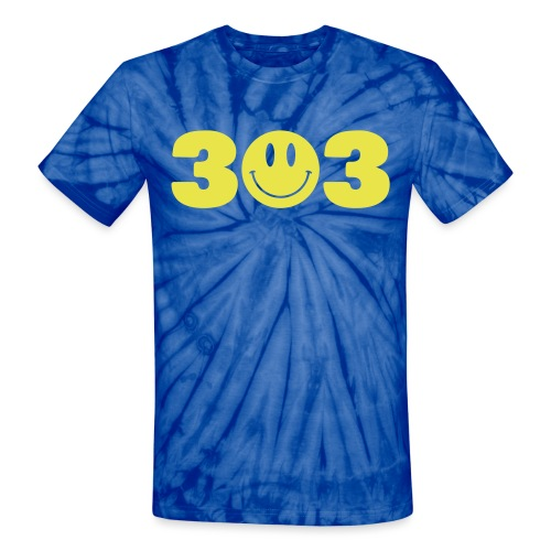 3 Smiley 3 - Unisex Tie Dye T-Shirt