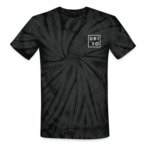 Ukiyo Logo White - Unisex Tie Dye T-Shirt