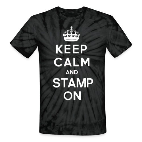 Keep Calm and Stamp On P - Unisex Tie Dye T-Shirt