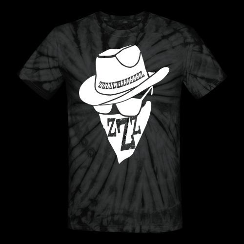 DREAM BANDITS WHITE Large Logo - Unisex Tie Dye T-Shirt