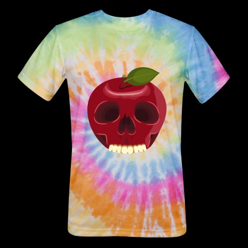 Apple Skull - Unisex Tie Dye T-Shirt