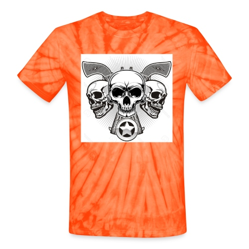 Skulls - Unisex Tie Dye T-Shirt