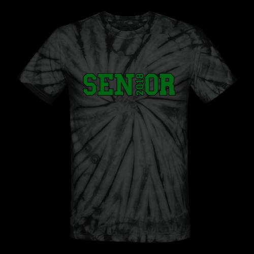 Green Senior Black Outline - Unisex Tie Dye T-Shirt