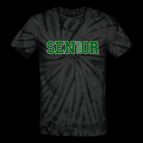 Green Senior White Outline - Unisex Tie Dye T-Shirt
