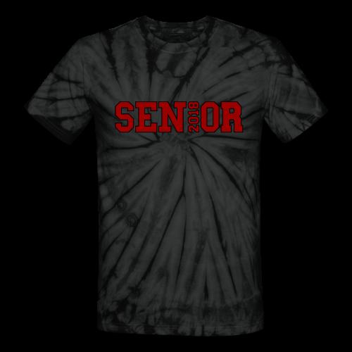 Red Senior Black Outline - Unisex Tie Dye T-Shirt