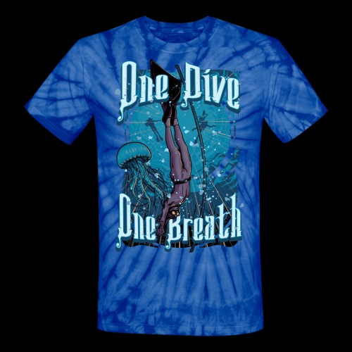 One Dive One Breath Freediving - Unisex Tie Dye T-Shirt