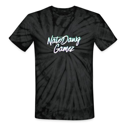 Newel Black Painted tp Nate- - Unisex Tie Dye T-Shirt