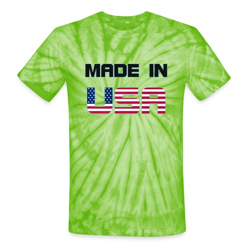 Made in USA - Unisex Tie Dye T-Shirt