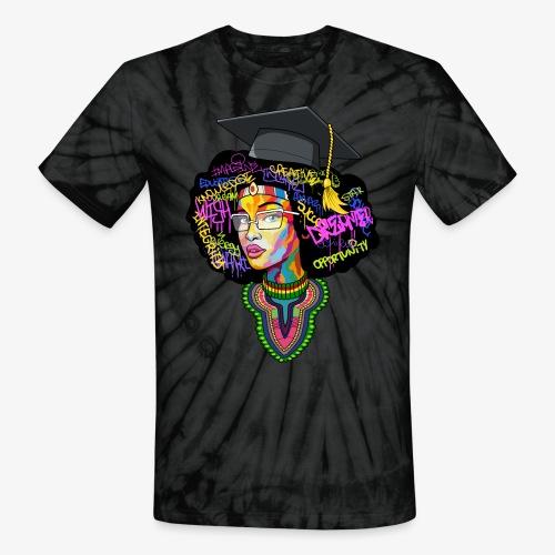 Black Educated Queen School - Unisex Tie Dye T-Shirt