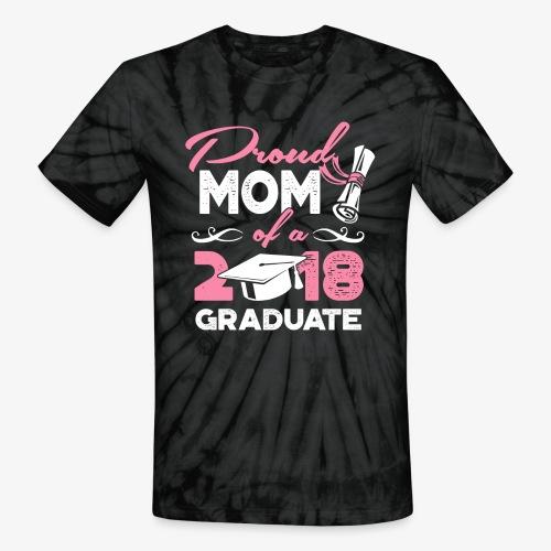 Proud Mom Graduate Mother Gift Shirt - Unisex Tie Dye T-Shirt