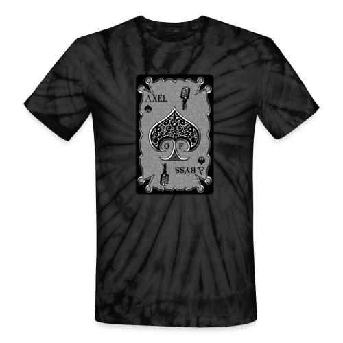 Axelofabyss Spade Card - Unisex Tie Dye T-Shirt