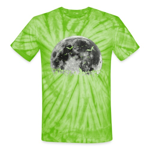 Scary Halloween moon - Unisex Tie Dye T-Shirt