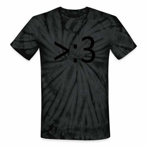 >:3 - Unisex Tie Dye T-Shirt