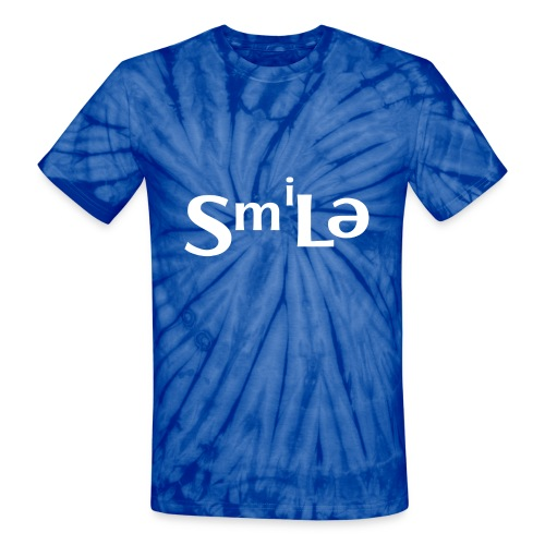 Smile Abstract Design - Unisex Tie Dye T-Shirt