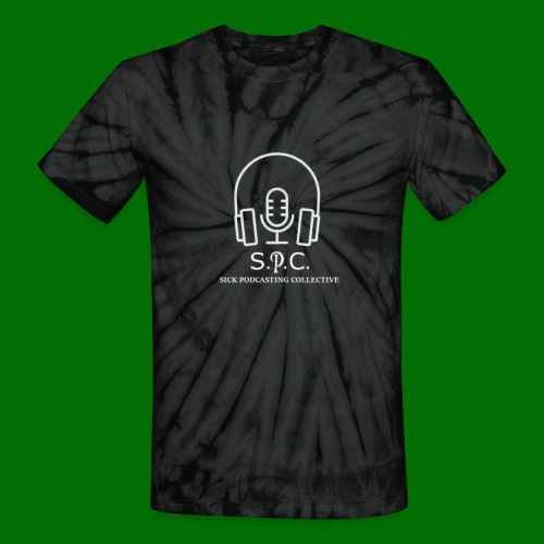 SPC Logo White - Unisex Tie Dye T-Shirt
