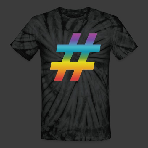 Rainbow Include Hash - Unisex Tie Dye T-Shirt