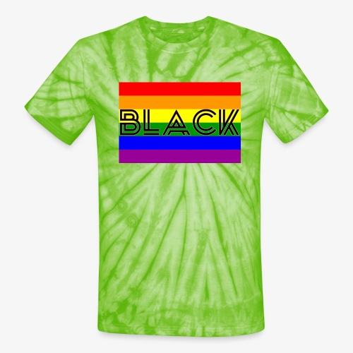 Black LGBTQ - Unisex Tie Dye T-Shirt