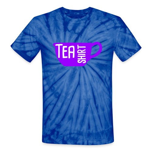 Tea Shirt Purple Power of Tea - Unisex Tie Dye T-Shirt