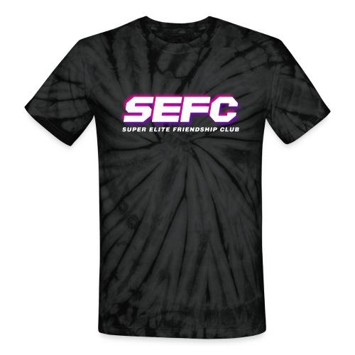 Super Elite Friendship Club Logo Vapor v2 - Unisex Tie Dye T-Shirt