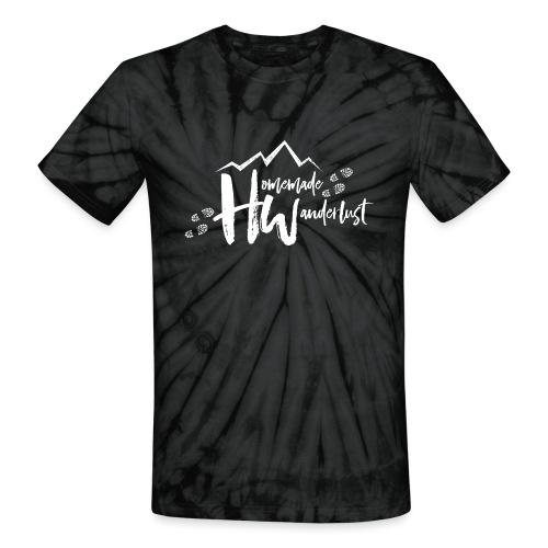 White HW Logo - Unisex Tie Dye T-Shirt