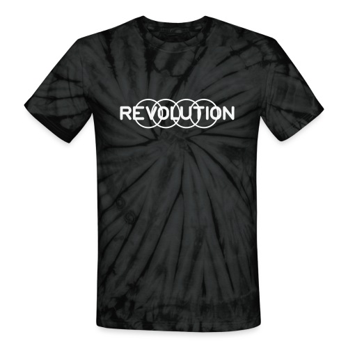 White Revolution Logo - Unisex Tie Dye T-Shirt