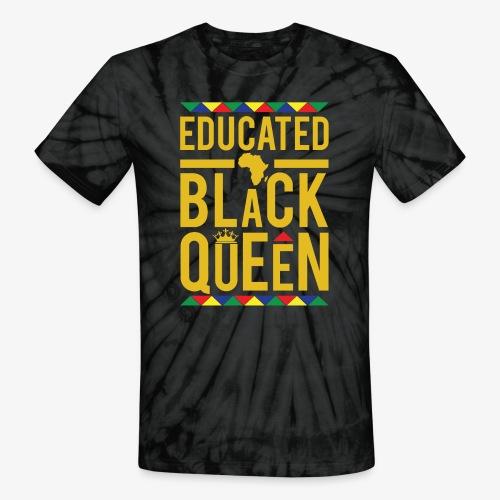Educated Black Queen - Unisex Tie Dye T-Shirt