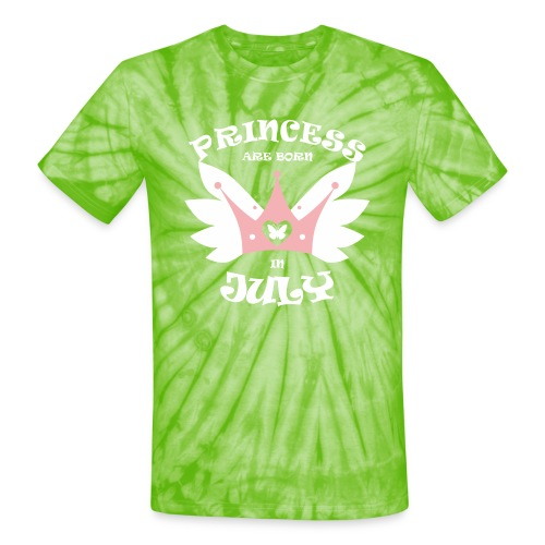 Princess Are Born In July - Unisex Tie Dye T-Shirt