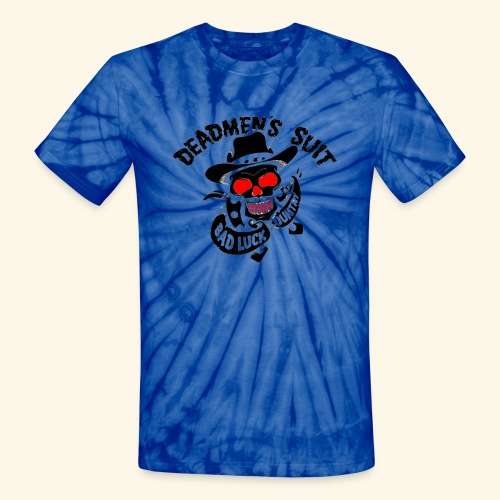 Deadmen's Suit Bad Luck#Skull - Unisex Tie Dye T-Shirt
