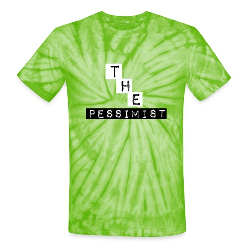 The Pessimist Abstract Design - Unisex Tie Dye T-Shirt