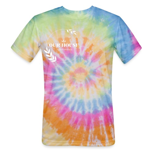 Our House Natural Products Logo - Unisex Tie Dye T-Shirt