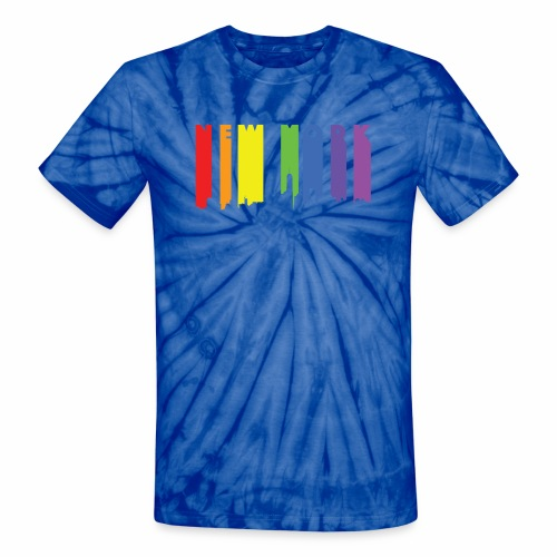 New York design Rainbow - Unisex Tie Dye T-Shirt