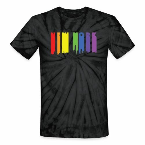 New York design Rainbow - Unisex Tie Dye T-Shirt