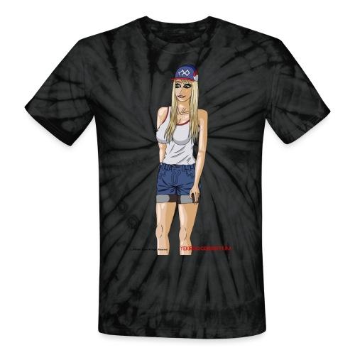 Gina Character Design - Unisex Tie Dye T-Shirt