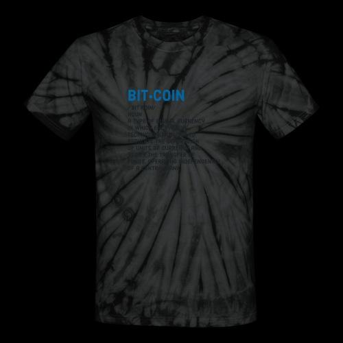 Bitcoin def Tee - Unisex Tie Dye T-Shirt